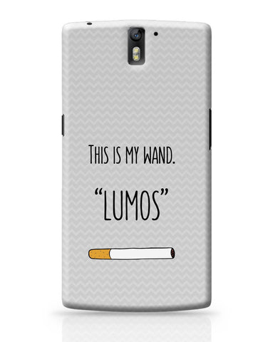 OnePlus One Covers | This Is My Wand Lumos Cigarette OnePlus One Cover Online India