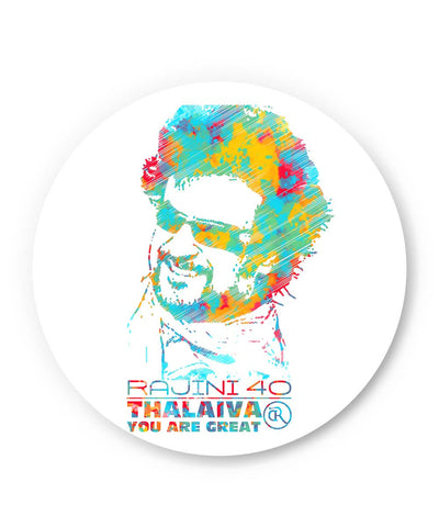 PosterGuy | Rajinikant 40 Thalaiva | You Are Great Fridge Magnet Online India by Dinesh Kumar