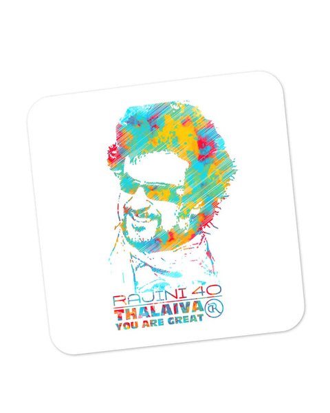 Buy Coasters Online | Rajinikant 40 Thalaiva | You Are Great Coaster Online India | PosterGuy.in
