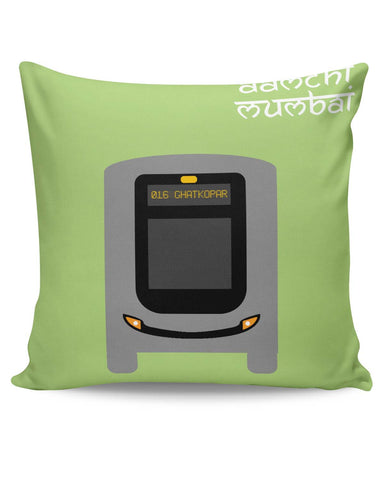 PosterGuy | Aamchi Mumbai Quirky Bus Cushion Cover Online India