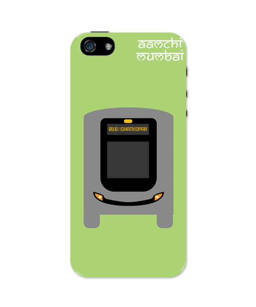 iPhone 5 / 5S Cases & Covers | Aamchi Mumbai Quirky Bus iPhone 5 / 5S Case Online India
