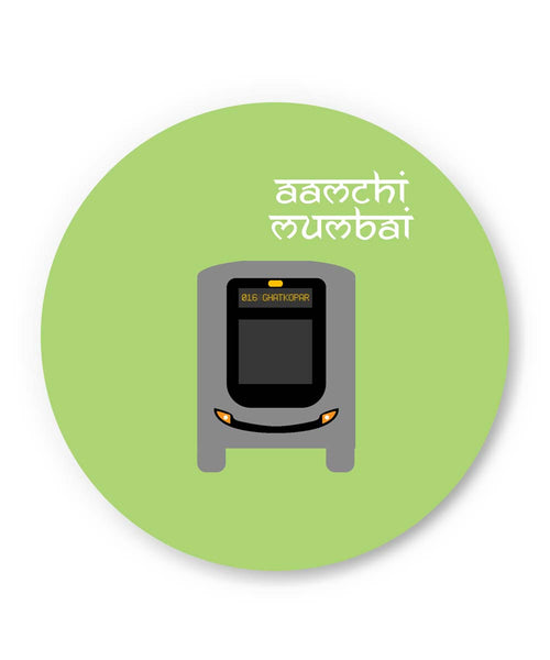 PosterGuy | Aamchi Mumbai Quirky Bus Fridge Magnet Online India by Nishit