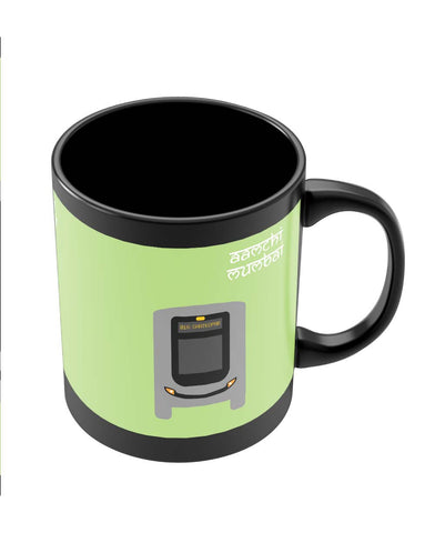 Coffee Mugs Online | Aamchi Mumbai Quirky Bus Black Coffee Mug Online India