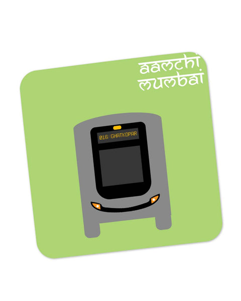 Buy Coasters Online | Aamchi Mumbai Quirky Bus Coaster Online India | PosterGuy.in