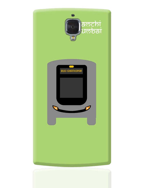 Aamchi Mumbai Quirky Bus OnePlus 3 Cover Online India