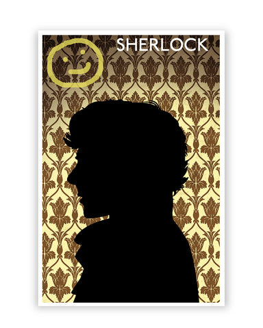 Posters Online | Sherlock Holmes 221B Silhouette Illustration Poster Online India | Designed by: Nishit