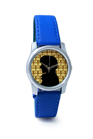 Women Wrist Watch India | Sherlock Holmes 221B Silhouette Illustration Wrist Watch Online India