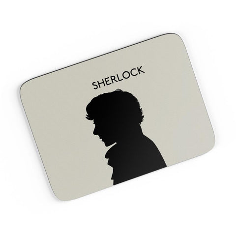 Sherlock Holmes 221B Silhouette Illustration (White) A4 Mousepad Online India