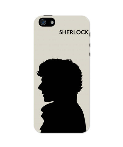iPhone 5 / 5S Cases & Covers | Sherlock Holmes 221B Silhouette Illustration (White) iPhone 5 / 5S Case Online India