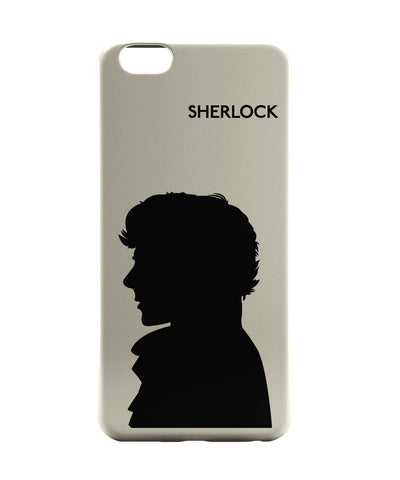 iPhone 6 Cases | Sherlock Holmes 221B Silhouette Illustration (White) iPhone 6 Case Online India