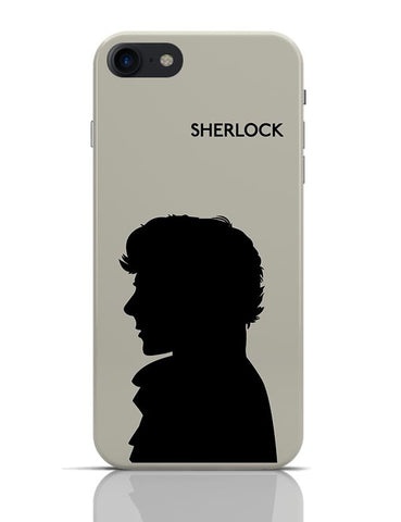 Sherlock Holmes 221B Silhouette Illustration (White) iPhone 7 Covers Cases Online India