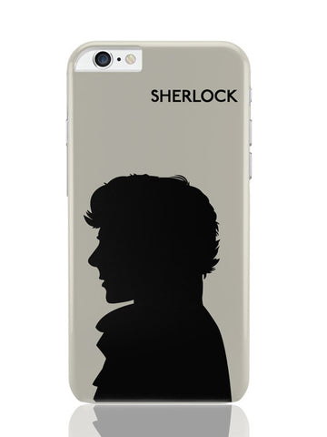 iPhone 6 Plus / 6S Plus Covers & Cases | Sherlock Holmes 221B Silhouette Illustration (White) iPhone 6 Plus / 6S Plus Covers and Cases Online India