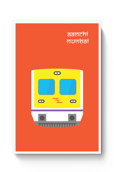 Posters Online | Aamchi Mumbai Quirky Local Train Poster Online India | Designed by: Nishit