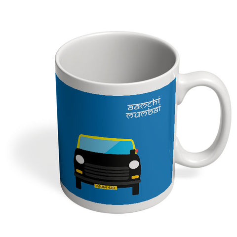 Coffee Mugs Online | Aamchi Mumbai Quirky Taxi Mug Online India
