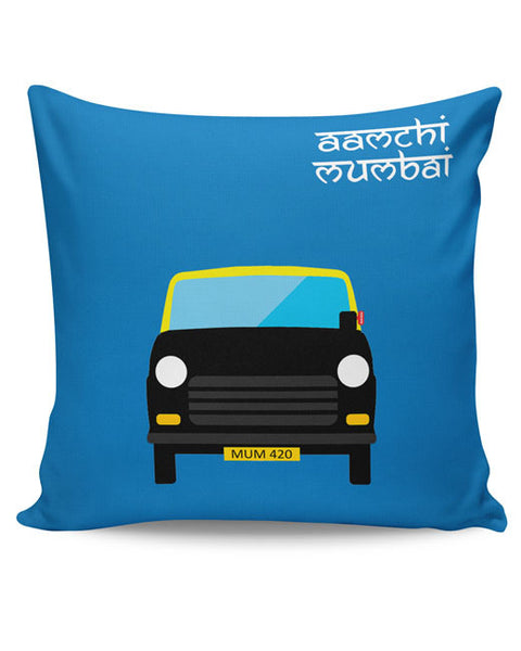 PosterGuy | Aamchi Mumbai Quirky Taxi Cushion Cover Online India