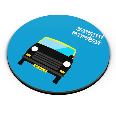 PosterGuy | Aamchi Mumbai Quirky Taxi Fridge Magnet Online India by Nishit