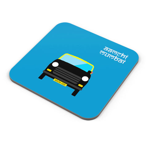 Buy Coasters Online | Aamchi Mumbai Quirky Taxi Coaster Online India | PosterGuy.in
