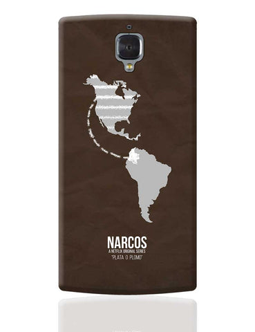 Narcos Minimal Illustration (Tv Show) OnePlus 3 Cover Online India