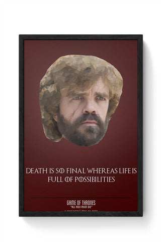 Framed Posters Online India | Tyrion Polygonal Portrait Framed Poster Online India