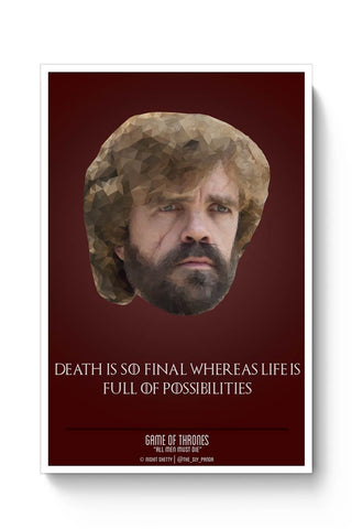 Posters Online | Tyrion Polygonal Portrait Poster Online India | Designed by: Nishit