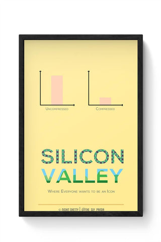 Framed Posters Online India | Silicon Valley (TV Show) Minimal Illustration Framed Poster Online India