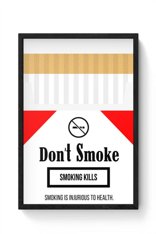 Cigarette Packet - No Smoking Quirky  Framed Poster Online India
