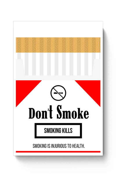 Cigarette Packet - No Smoking Quirky  Poster Online India