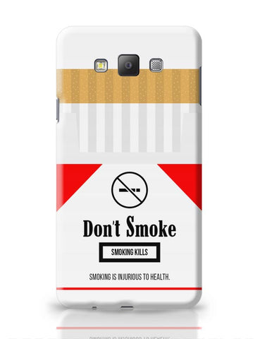 Cigarette Packet - No Smoking Quirky  Samsung Galaxy A7 Covers Cases Online India