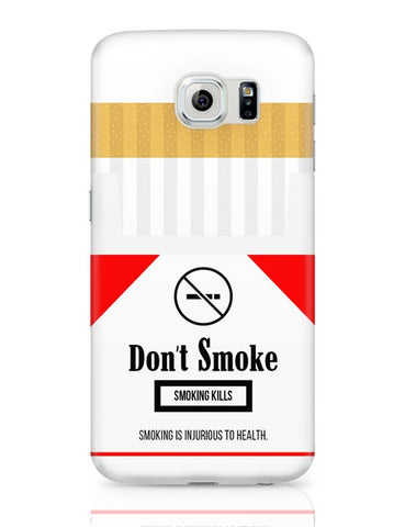 Cigarette Packet - No Smoking Quirky  Samsung Galaxy S6 Covers Cases Online India
