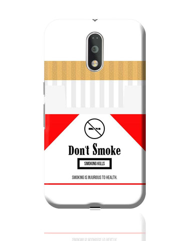 Cigarette Packet - No Smoking Quirky  Moto G4 Plus Online India