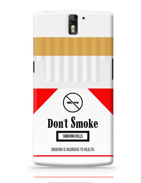 Cigarette Packet - No Smoking Quirky  OnePlus One Covers Cases Online India