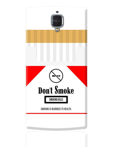 Cigarette Packet - No Smoking Quirky  OnePlus 3 Cover Online India