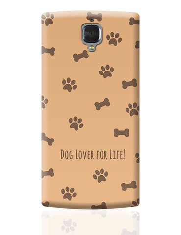 Dog Lover Paw Print Phone Cover OnePlus 3 Covers Cases Online India