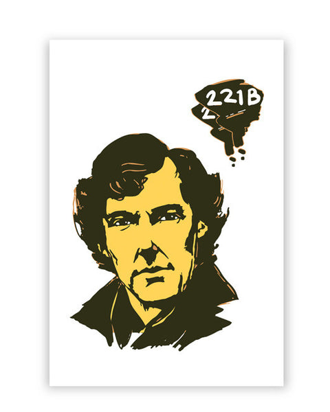 Posters Online | 221 B Sherlock Holmes Illustration Poster Online India | Designed by: Soumesh