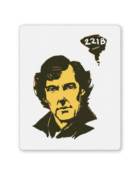 Buy Mousepads Online India | 221 B Sherlock Holmes Illustration Mouse Pad Online India