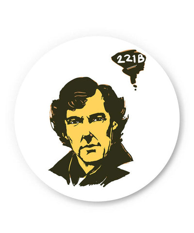 PosterGuy | 221 B Sherlock Holmes Illustration Fridge Magnet Online India by Soumesh