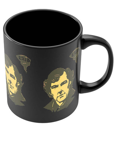 Coffee Mugs Online | 221 B Sherlock Holmes Illustration Black Coffee Mug Online India