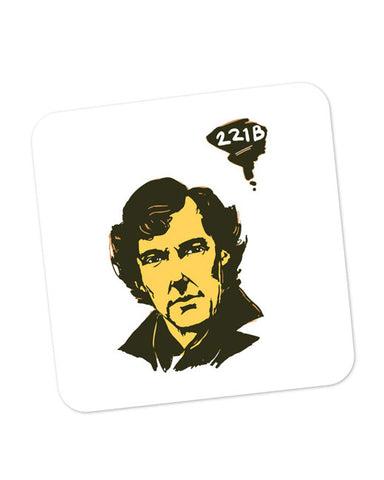 Buy Coasters Online | 221 B Sherlock Holmes Illustration Coaster Online India | PosterGuy.in