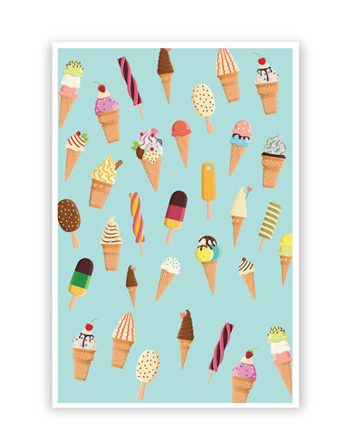 Posters Online | Ice-cream Cone Pattern Poster Online India | Designed by: Arwa
