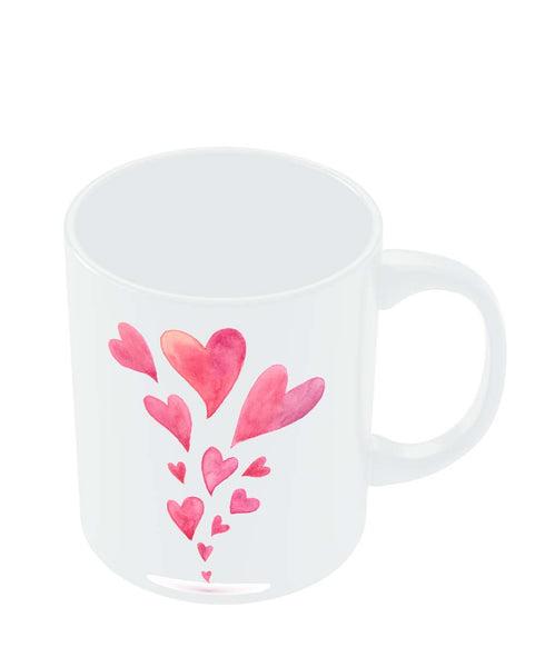Coffee Mugs Online | Quirky Hearts Illustration Pattern Mug Online India