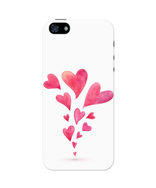 iPhone 5 / 5S Cases & Covers | Quirky Hearts Illustration Pattern iPhone 5 / 5S Case Online India
