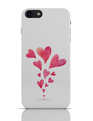 Quirky Hearts Illustration Pattern  iPhone 7 Covers Cases Online India