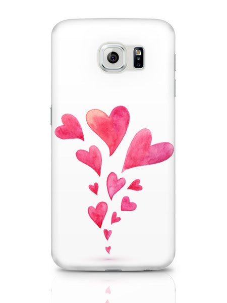 Samsung Galaxy S6 Covers & Cases | Quirky Hearts Illustration Pattern Samsung Galaxy S6 Covers & Cases Online India