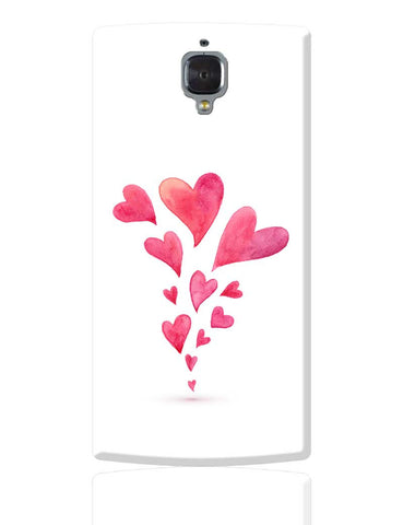 Quirky Hearts Illustration Pattern  OnePlus 3 Cover Online India