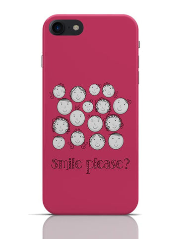 Smile Please | Cute Funny Faces (Pink) iPhone 7 Covers Cases Online India