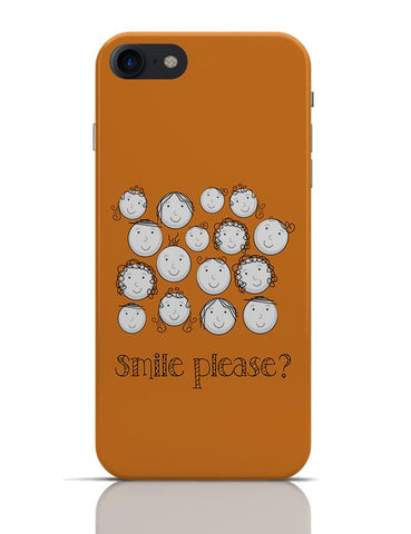 Smile Please | Cute Funny Faces (Orange) iPhone 7 Covers Cases Online India