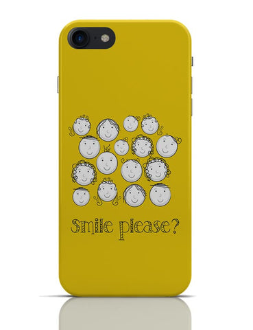 Smile Please | Cute Funny Faces (Yellow) iPhone 7 Covers Cases Online India