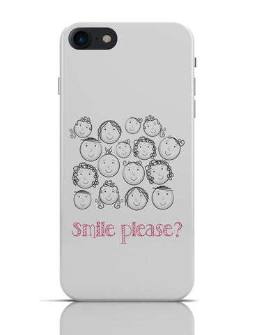Smile Please | Cute Funny Faces (White) iPhone 7 Covers Cases Online India