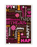 Posters Online | Happy Birthday Pattern Poster Online India | Designed by: Arwa
