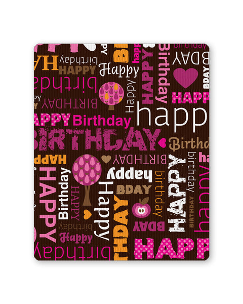Buy Mousepads Online India | Happy Birthday Pattern Mouse Pad Online India